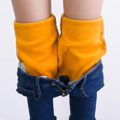 加绒牛仔裤女2017新款高腰冬季长裤加厚保暖韩版带绒外穿小脚裤子
