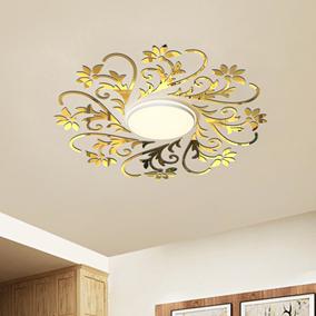 天花板吊顶吸顶灯欧式花纹镜面立体亚克力客厅卧室装饰创意墙贴