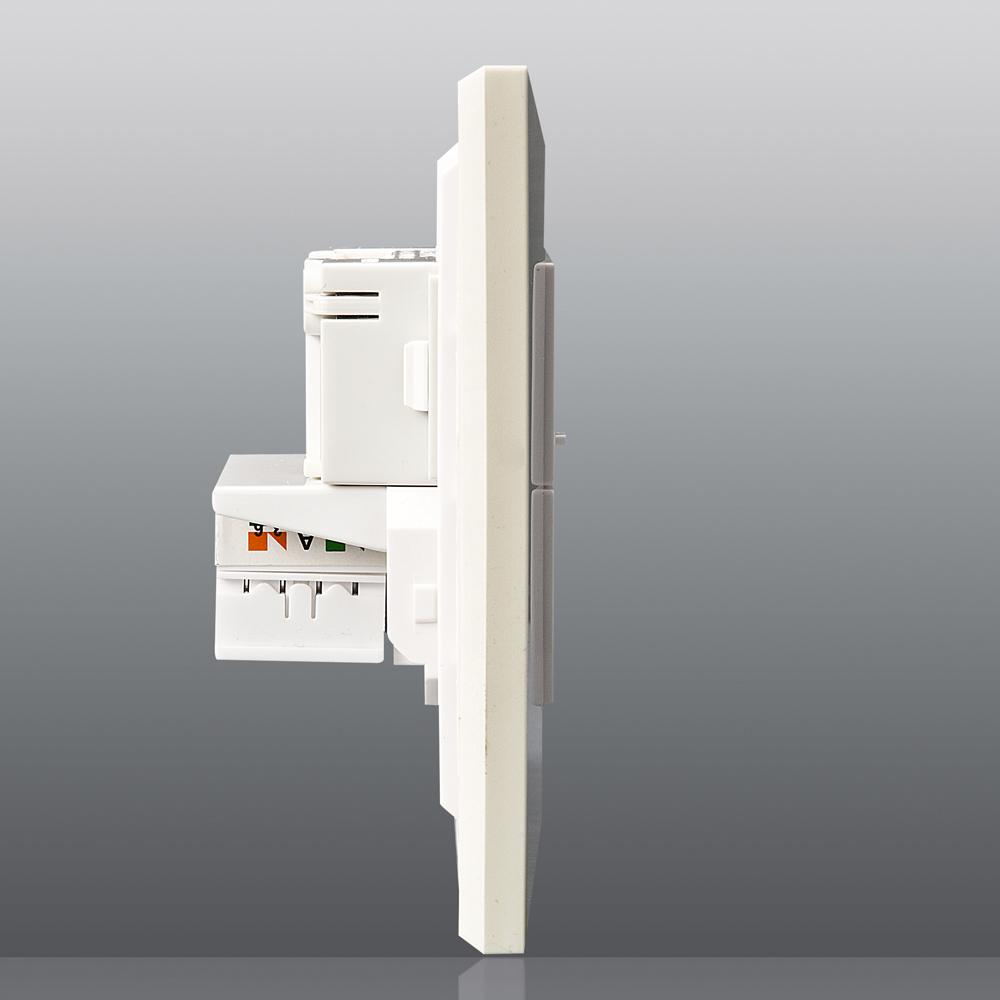 松下开关插座专卖店/松下开关简尚系列 电话+电脑插座 WMW415