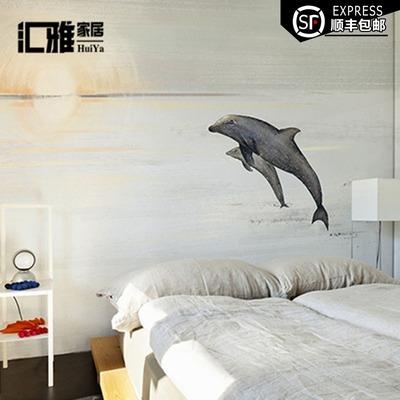 手绘艺术壁纸海洋之舞卡通个性定制客厅背景墙纸创意定制大型壁画特价精选
