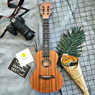 歌芮拉尤克里里初学者学生女成人23寸21寸26寸桃花心木单板小吉他价格