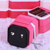 美国正品Juicy Couture橘滋金色钥匙爱心耳钉耳饰圣诞节生日礼物