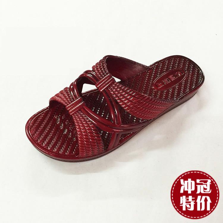 正品回力拖鞋女台湾油性经典中老年妈妈耐磨防滑浴室日常送礼居家