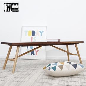 餐厅长条凳实木长板凳橡木长凳子北欧简约家用凳换鞋凳餐桌凳定做