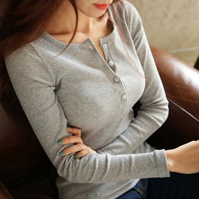 长袖t恤女修身秋冬打底衫白色大码上衣百搭紧身小衫体恤秋衣外穿