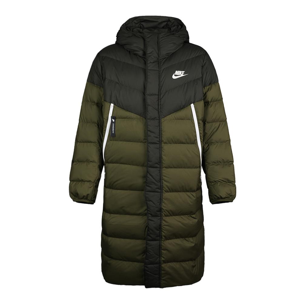 Nike耐克2018年新款冬装男保暖夹克外套长款连帽羽绒服AA8854-355