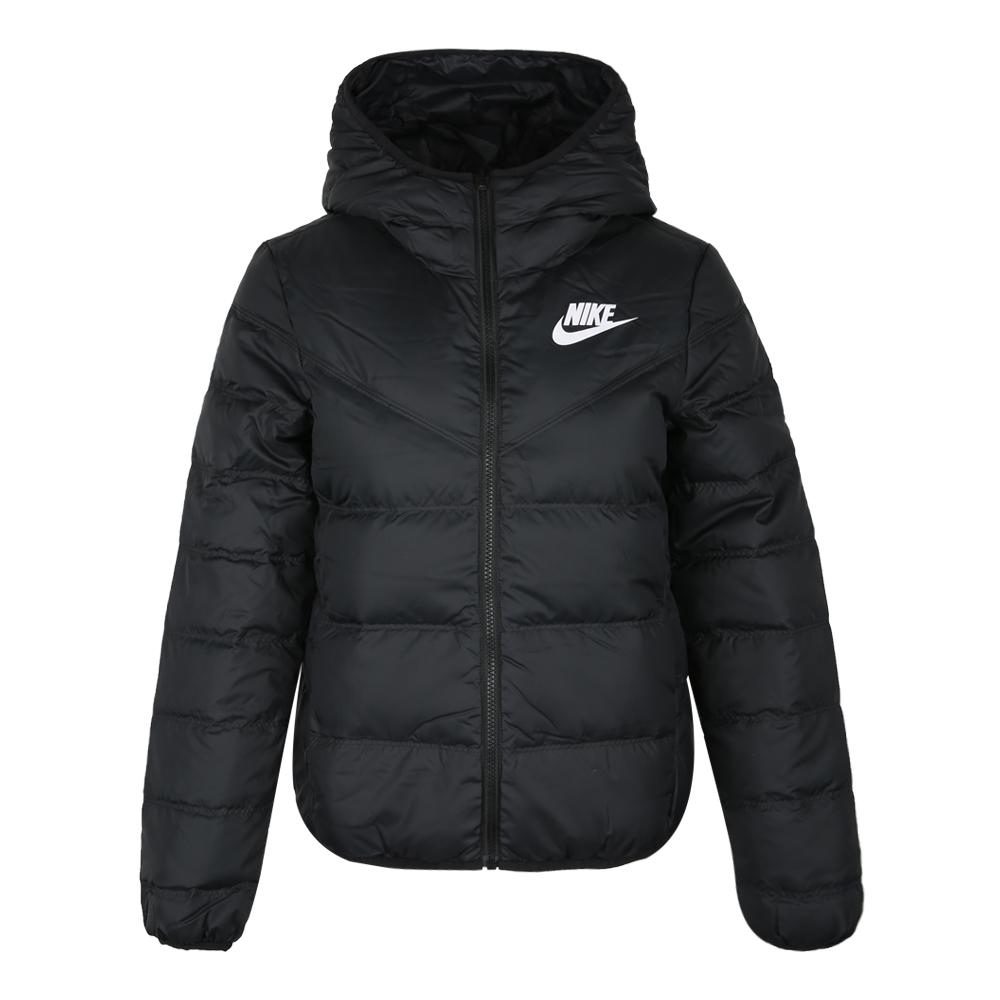 Nike耐克2018新款冬装女子运动服保暖夹克连帽羽绒服939439-010
