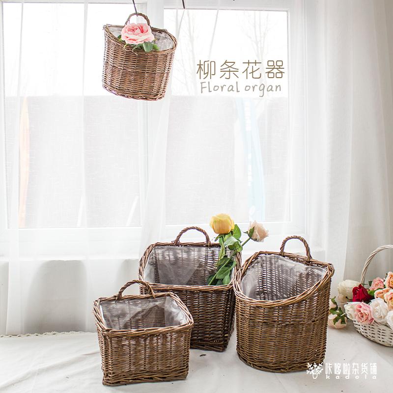 墙上花篮创意装饰