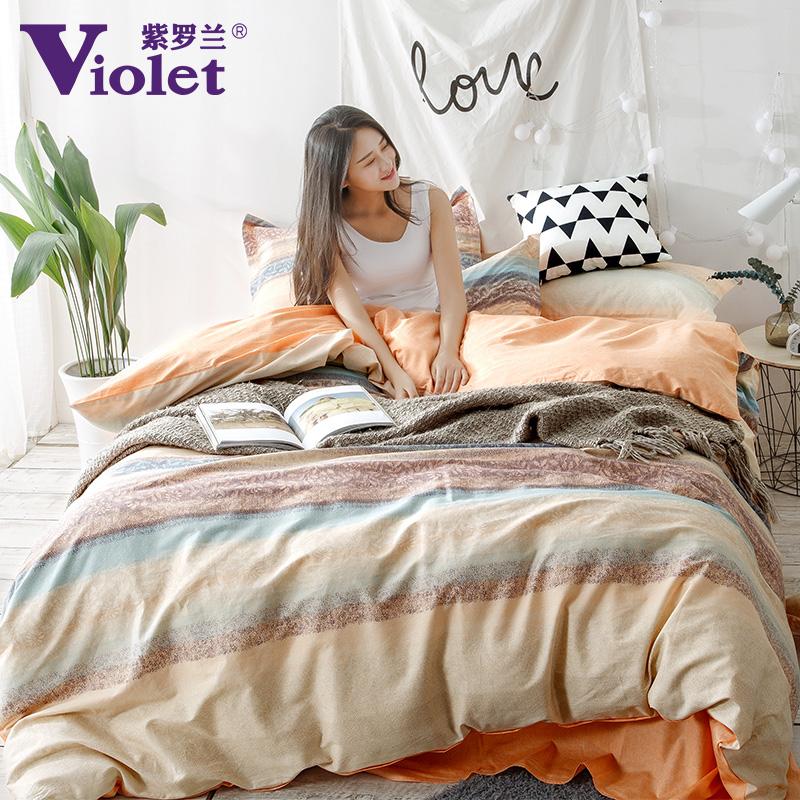 床上田园紫罗兰