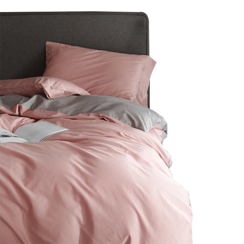 紫罗兰60s长绒棉床上四件套1.5米单人床单1.8米全棉纯棉被套双人