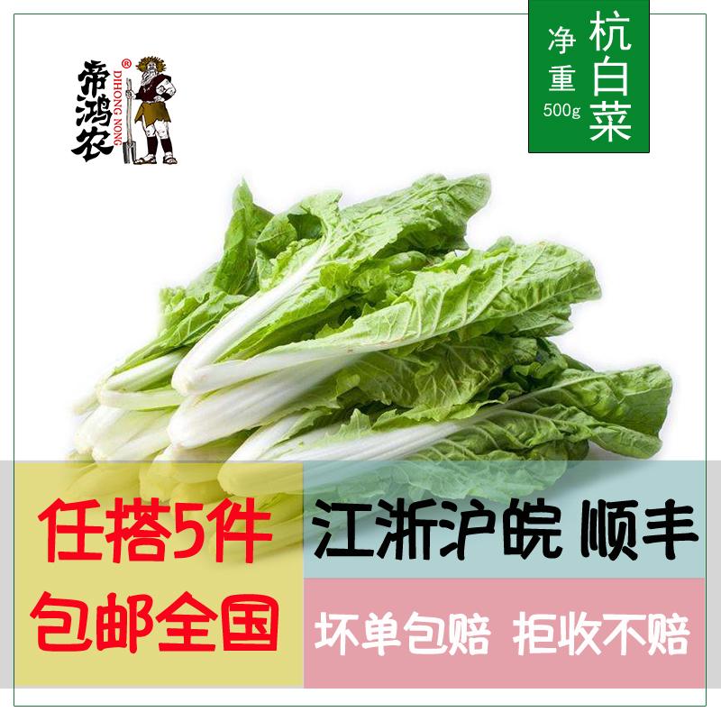 【5件包邮】杭白菜500g小白菜叶菜青菜过年不打烊