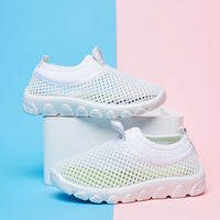 Children's shoes hollow net shoes girls casual shoes boys sports shoes baby white shoes spring and summer breathable 2019 new