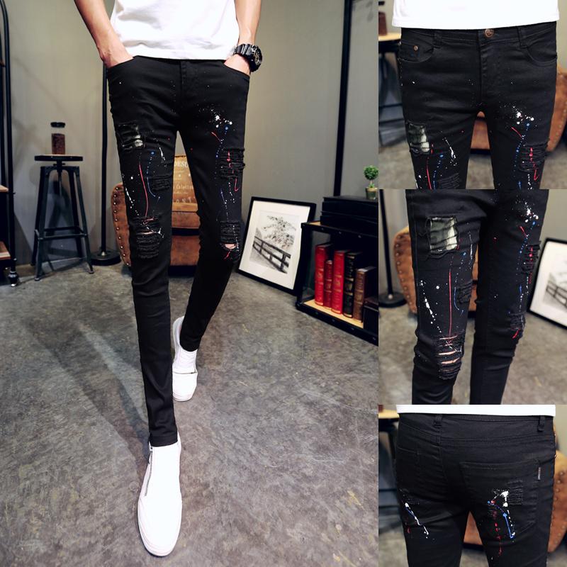 春季牛仔紧腿裤