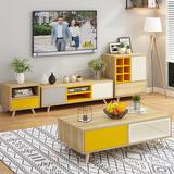 北欧电视柜简约现代组合套装茶几卧室电视机柜欧式客厅柜小户型
