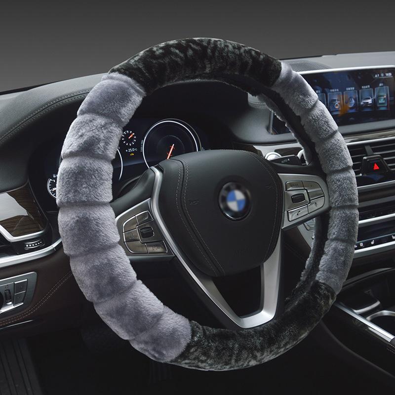 适用于汽车方向盘套科鲁兹福克斯凯越大众朗逸冬季短毛绒车用把套5元优惠券