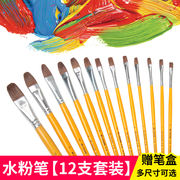 Wei Zhuang painting material Wolf watercolor gouache oil brush set paint painting pen student art supplies single