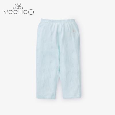 英氏夏季薄款儿童内衣 男女宝宝竹纤维睡裤长裤子婴儿长裤174053