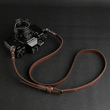 CANPIS adjustable length retro leather soft micro-single camera shoulder strap Fuji Leica-Soni package