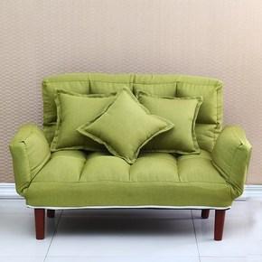 户型小布艺懒人沙发床可折叠拆洗两用卧室布艺多功能小沙发椅客厅