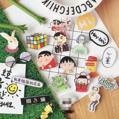韩国ulzzang 可爱卡通亚克力徽章辛普森半身日系原宿软萌胸针