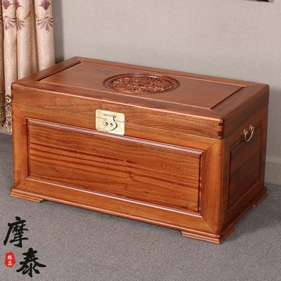 摩泰香樟木箱子实木加厚全樟木柜婚嫁储物收纳藏字画书画衣箱