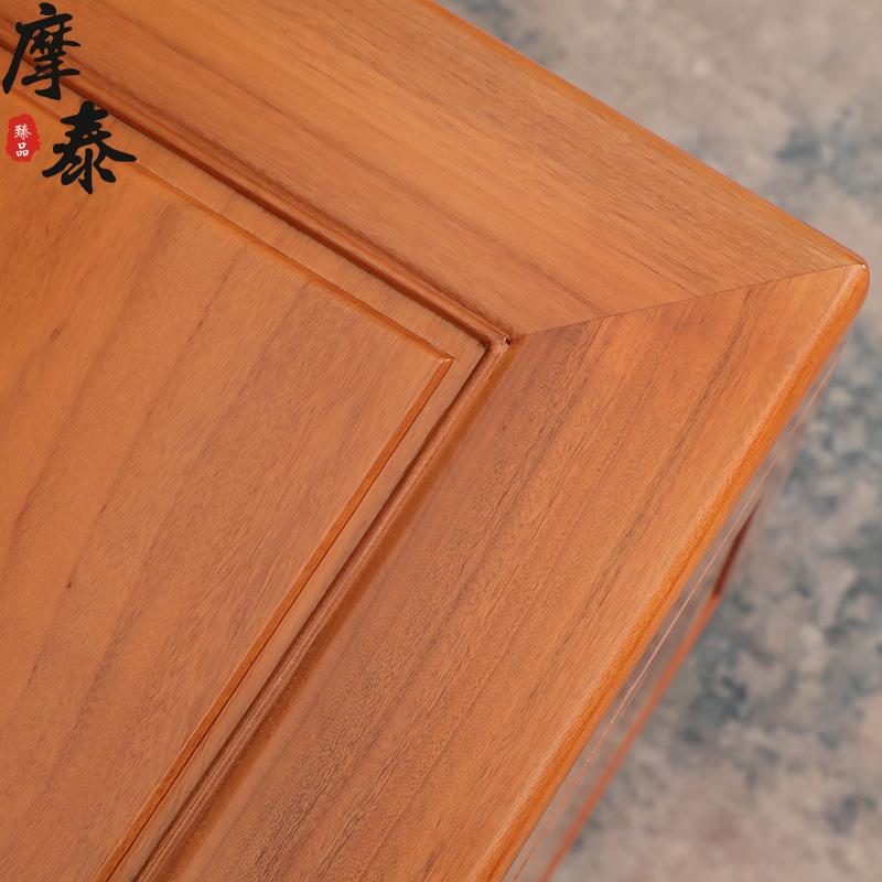 摩泰全香樟木箱子实木素面衣箱储物收纳藏字画书書画箱加长樟木箱