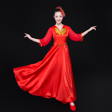Opening Dance Big Dress Female 2019 New Adult Atmospheric Dance Performance Clothes for Middle-aged and Elderly Stage Performance Clothes