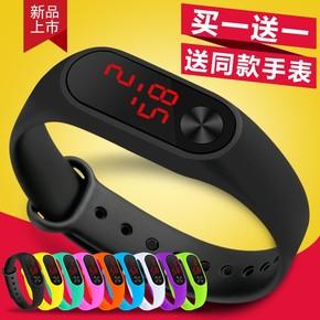 酷炫亲子儿童手表男孩电子表 防水LED七彩夜光多功能学生运动腕表