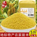 農家黃小米新米5斤包郵小黃米月子米小米粥五谷雜糧粗糧特產