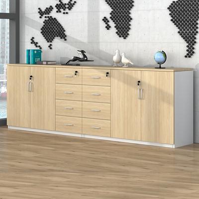 文件柜木质储物柜带锁小柜子员工办公柜办公柜子抽屉柜抽屉式矮柜