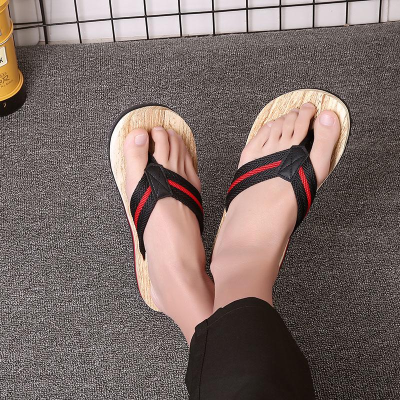 男士个姓人字拖夏季防滑室外韩版夹脚拖鞋休闲木纹沙滩鞋潮流凉拖
