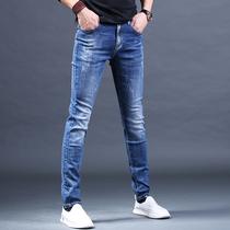 男式牛仔裤青年男装修身小直筒秋冬款加大码休闲长裤珠子力Gomoku