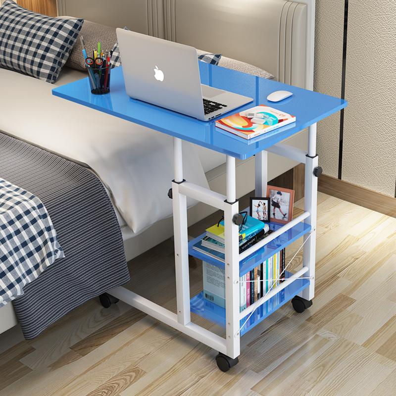 电脑桌懒人沙发床边桌台式家用简约书桌简易卧室床上用小桌子升降