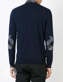 正品现货BURBERRY博柏利男士纯羊毛衫V领毛衣39835621美国采购