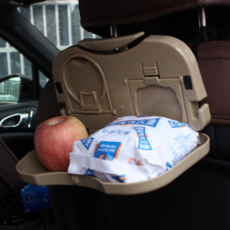 车载餐桌可折叠餐台后座汽车杯架车内水杯架车用饮料架多功能置物