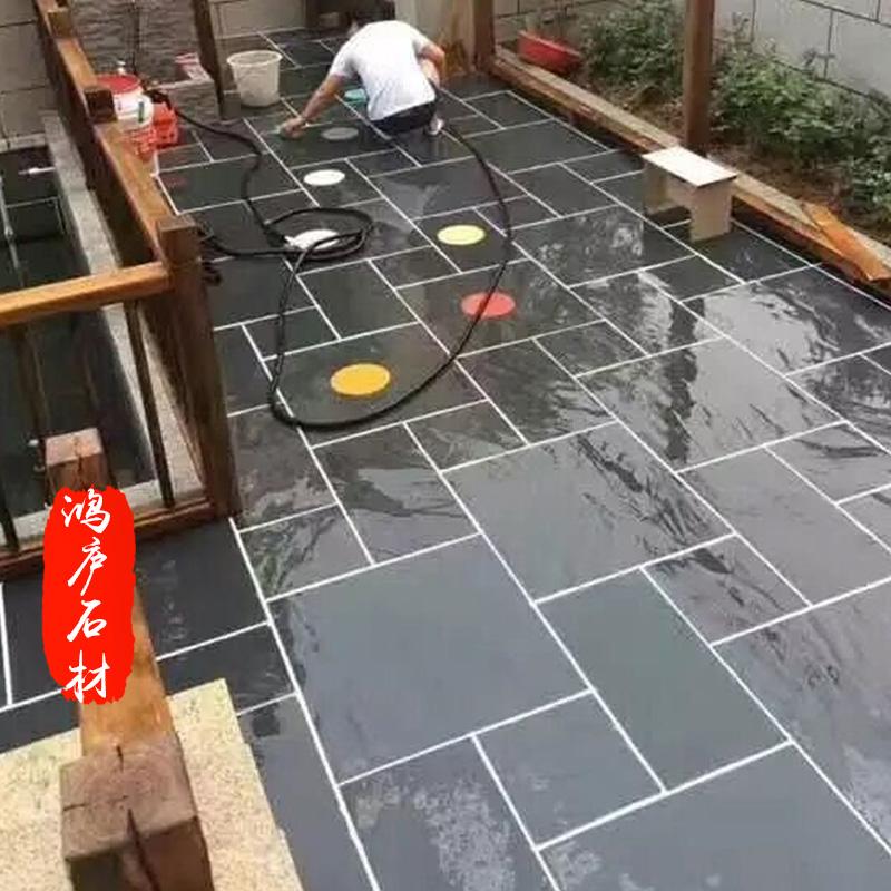 天然青石板文化石户外防滑阳台室外地砖花园别墅庭院地砖外墙石材