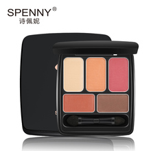 Spenny/petunia modern poem deep eyes 5 color matte plate of peach blossom eye shadow makeup the color pink shading