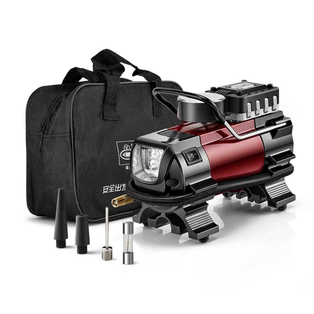 非常爱车 车载充气泵1381 便携式12v打气泵 带灯 测压打气