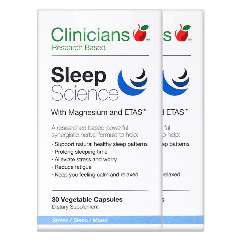 科立纯Clinicians安睡眠科学胶囊 非退褪黑素植物安神助眠2倍购