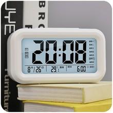两组闹铃卧室学生夜光闹钟LED数码万年历桌面台式电子钟表