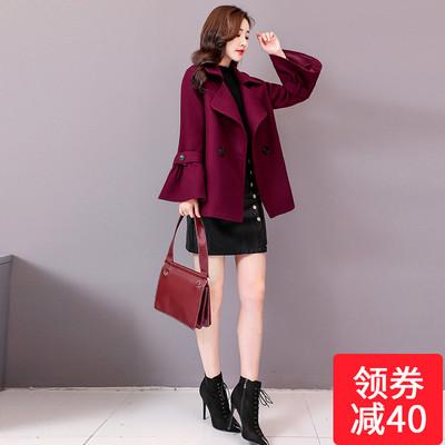 小妮子短款毛呢外套女装中长款韩版2018秋冬季新款小香风呢子上衣