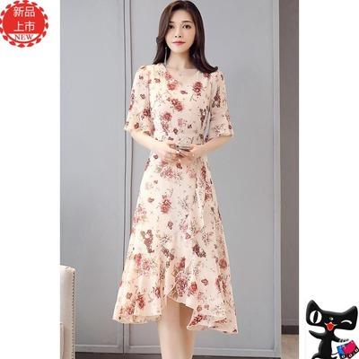 相约/四季2019夏装新款艾诺丝夏季女装姿衣专柜正品美腰型连衣裙