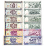 P1-4,7,8. Brand new UNC Eritrea 6 1-20, 50, 100 ng law banknotes full set