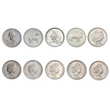 Oceania Foreign Coins Cook Islands 1 cent 5 coins set new 2003