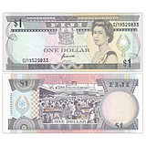 New UNC Fiji 1 dollar note Foreign coin ND 1993 P-89