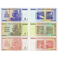 Zimbabwe 3 10 billion, 20 billion, 50 billion banknotes, large currency, foreign currency