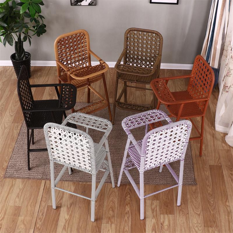 儿童餐椅夏宝宝吃饭椅子小藤椅藤编酒店婴儿专用座椅饭店餐厅小孩