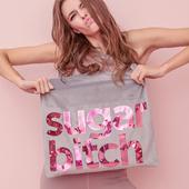 sugarmat bitch加拿大瑜伽包帆布包瑜伽人个性背袋烫瑜伽手提背带