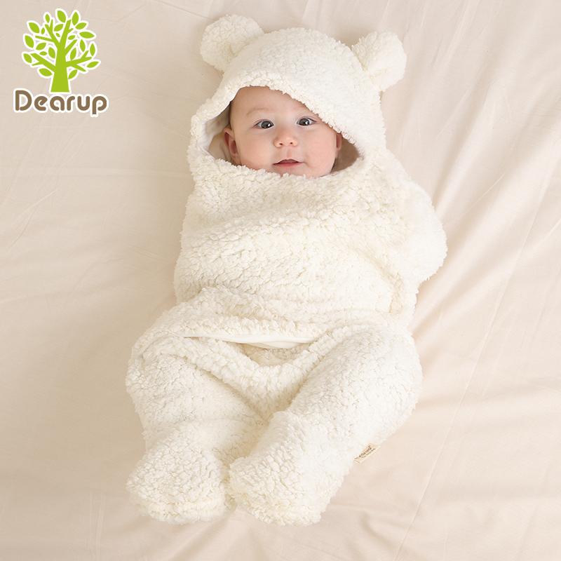 婴儿抱被冬加厚绒