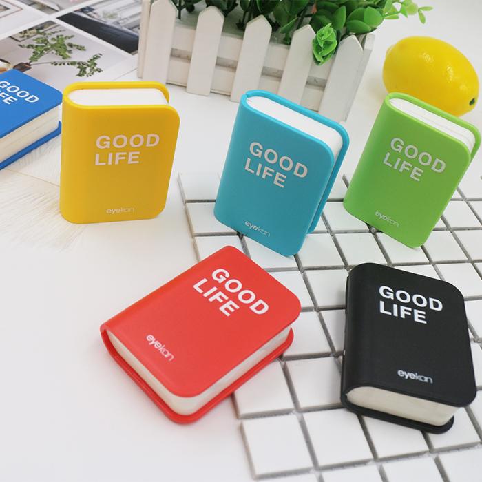 eyekan书本造型隐形眼镜盒小巧可爱伴侣盒配件齐全颜色可选收纳盒